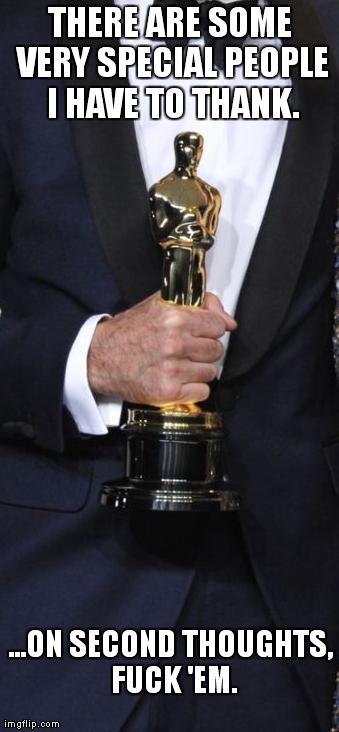 The Oscars speech